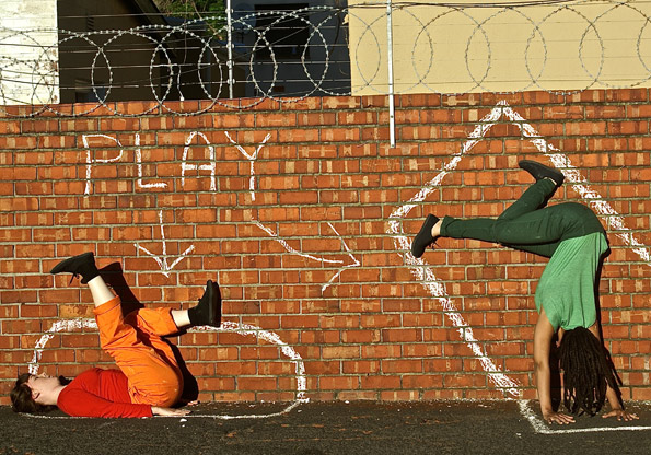 Chalk by Nicole Elliot 4. featuring Adriana Jamisse & Julia de Rosenwerth. Photo Nicola Elliott.