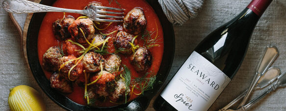 Pork & fennel meatballs with tomato sauce