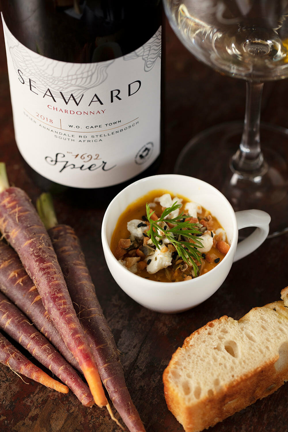 Carrot Soup with Spier Seaward Chardonnay