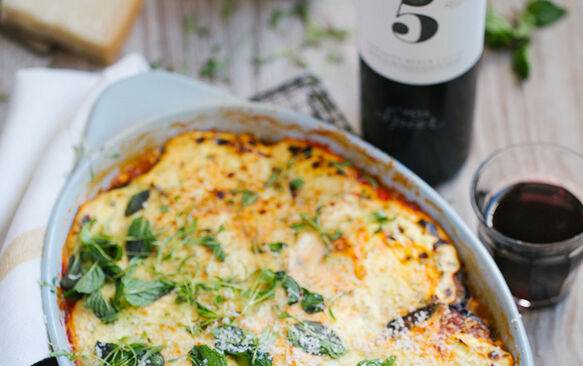 Low-carb roasted vegetable moussaka