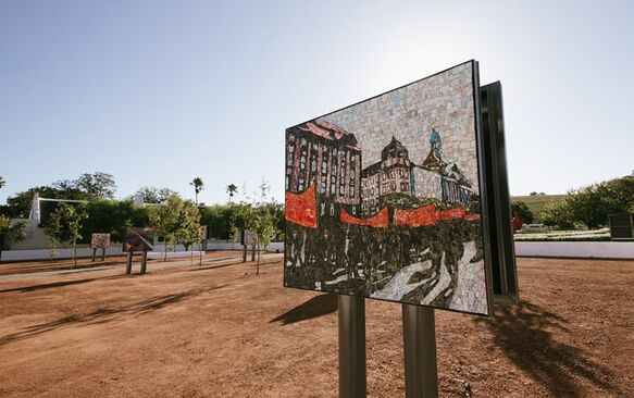 Visit the Spier Mosaic Kraal, South Africa's first outdoor mosaic exhibition