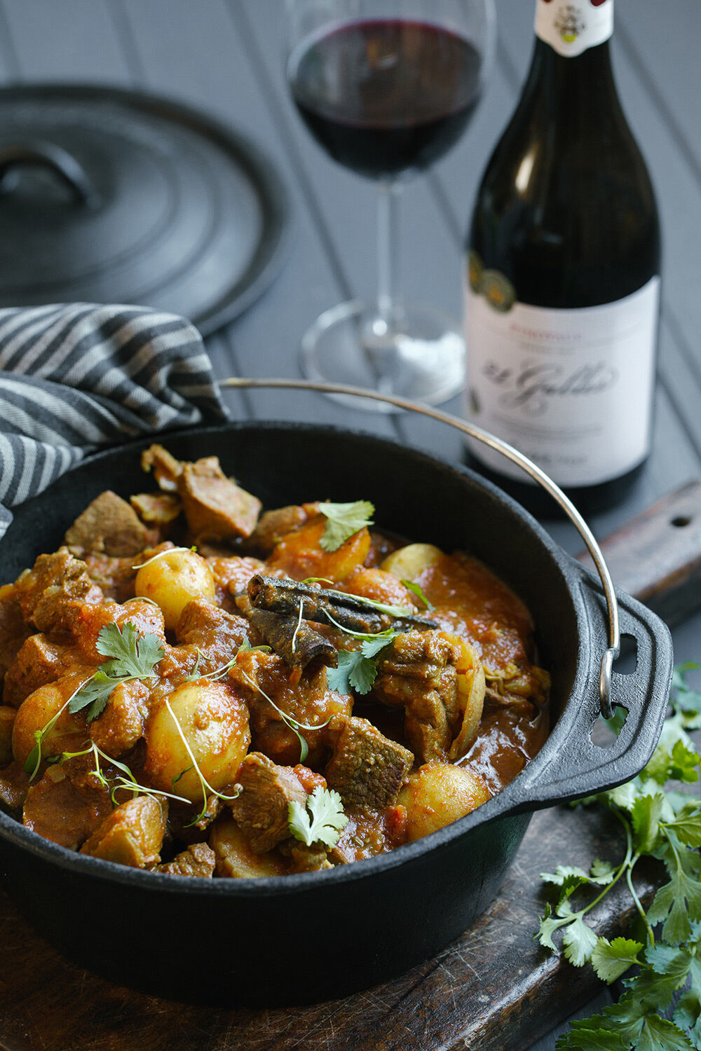 Cape-style lamb curry potjie