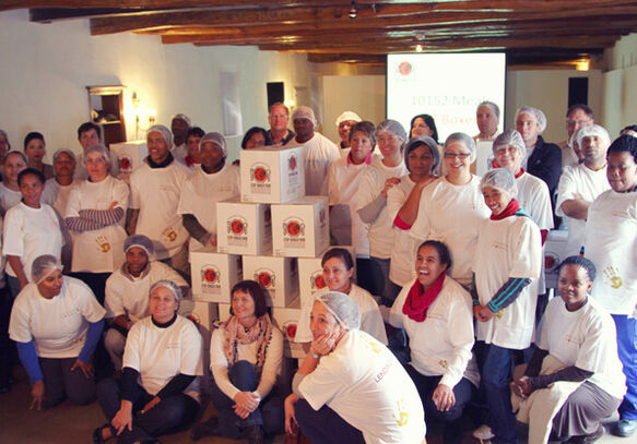 Spier Volunteers contribute to Stop Hunger Now